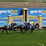 Ballarat racecourse finish line