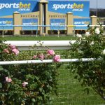 Roses line the rail at Ballarat racecourse