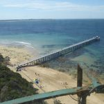 Pier or jetty below Point Lonsdale Lighthouse