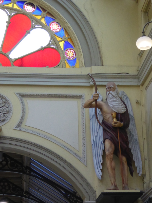 Father Time in the Royal Arcade Melbourne