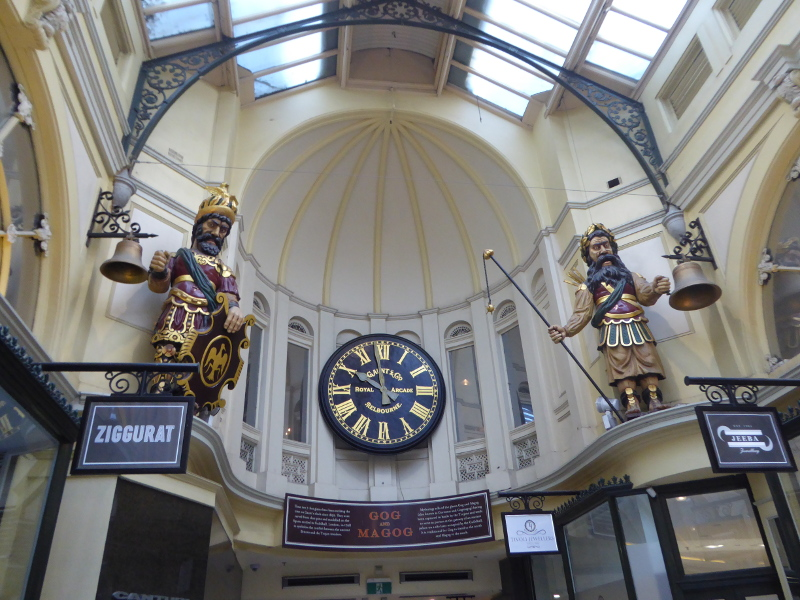 Gog & Magog in the Royal Arcade Melbourne