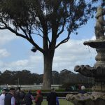Vintage fountain at Bendigo Racecourse