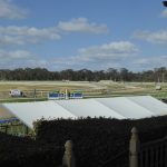 View from the old grandstand at Bendigo Racecourse