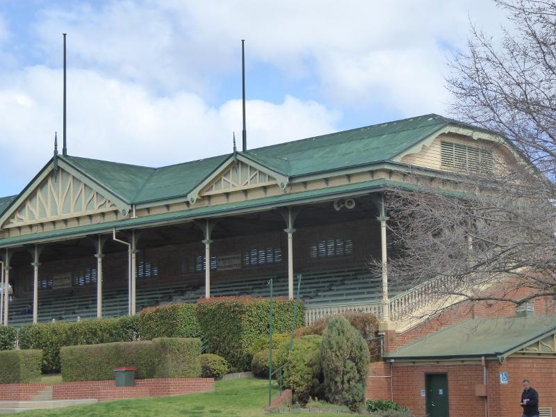 Bendigo Racecourse vintage grandstand