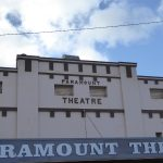 Art Deco facade to Paramount Theatre Maryborough