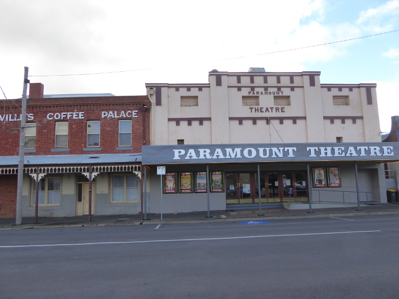 Coffee Palace next door to the Paramount Cinema