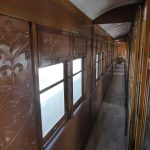 Carriages with corridors on the Victorian Goldfields Railway
