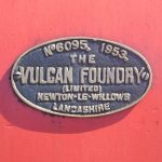 Steam train made at the Vulcan Foundry in Lancashire