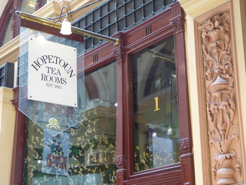 Hopetoun Tea Rooms in Block Arcade