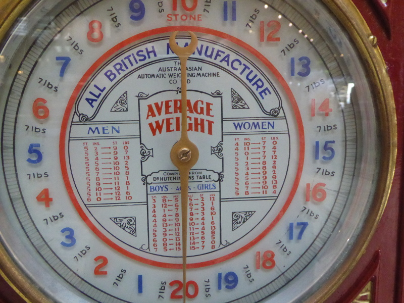 Average weights in 1880
