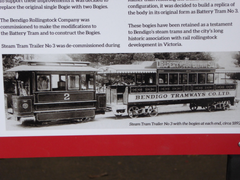 Double tram photo on display in Bendigo Tram Depot