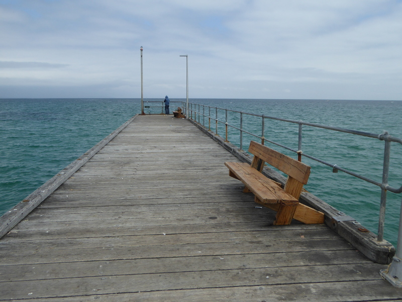 Fishing off Mordialloc Pier