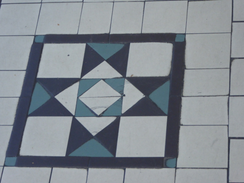 Floor tiling in Cathedral Arcade