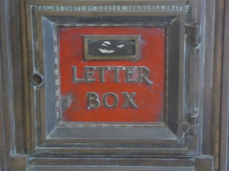 Vintage letter box in Cathedral Arcade
