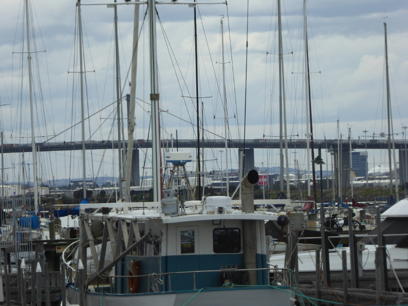 View of Westgate Bridge from Gem Pier
