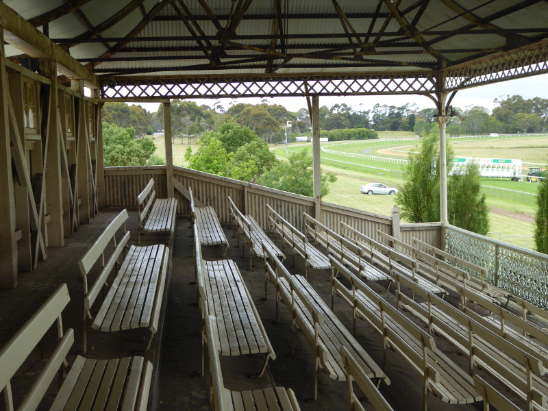 Some original ironwork on the grandstand seats