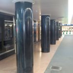 Black marble pillars in Campbell Arcade