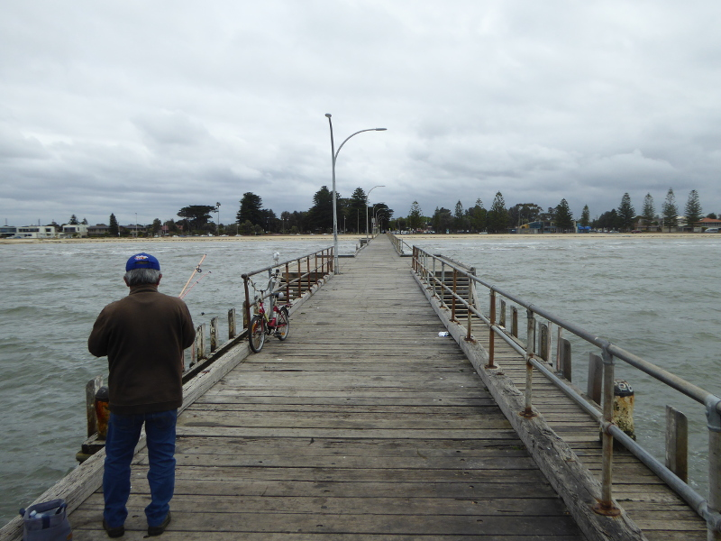 Fishing off Altona Pier
