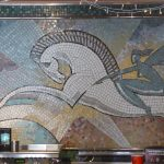 Old milkbar mosaic in the Rivoli