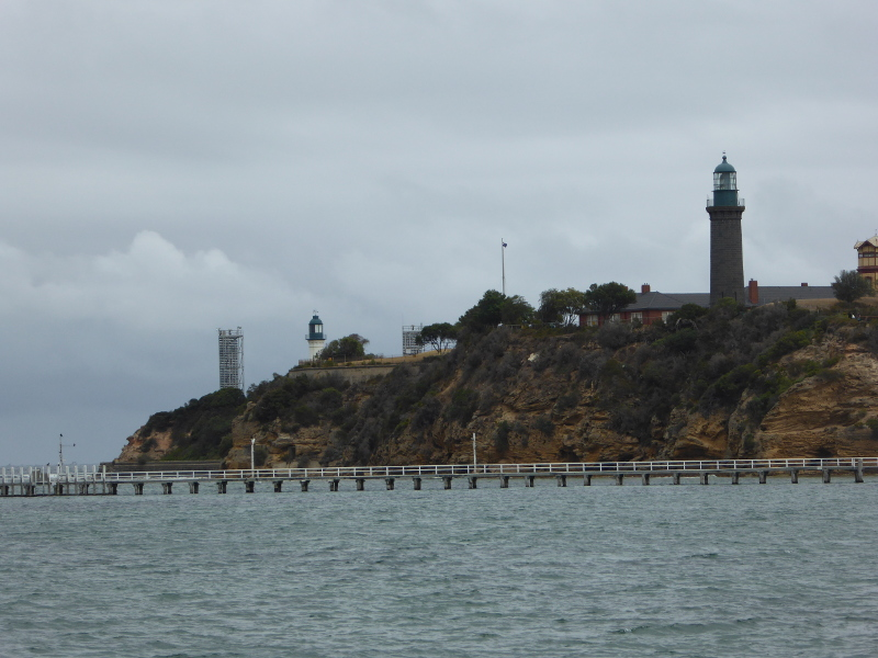 Queenscliff lighthouses seen from the pier