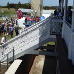 Beautiful stairways into the grandstand