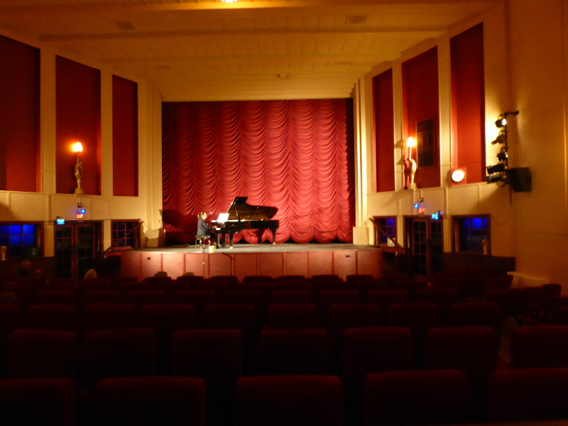 Grand piano in Rex Theatre Charlton