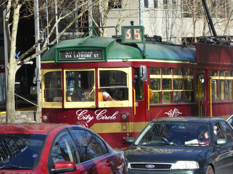 Tram number 35 Melbourne City Circle