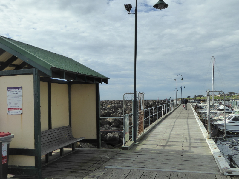 Portarlington Pier bench