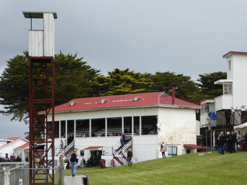 Cokeraine Racecourse grandstand
