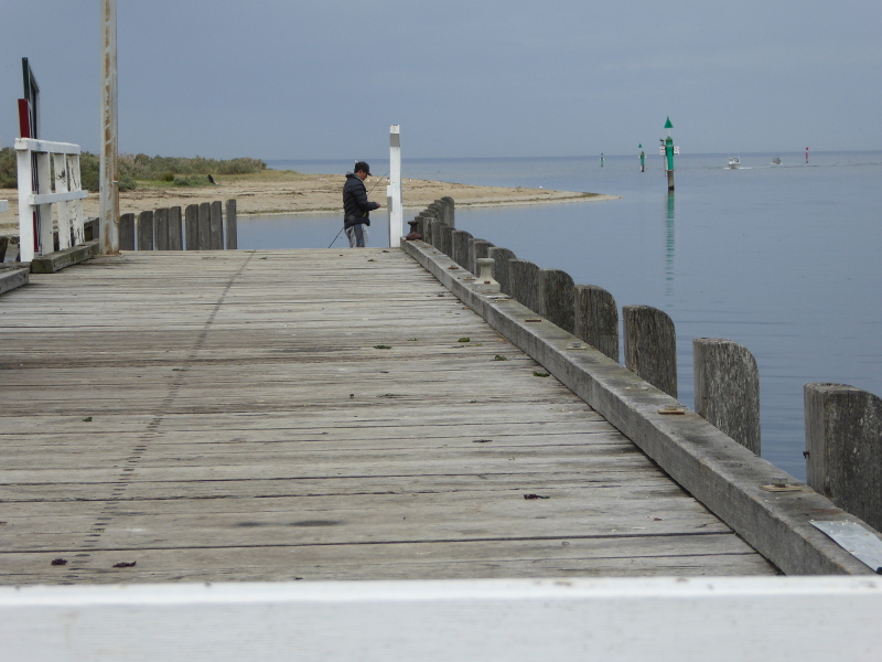Fishing off Werribee Jetty