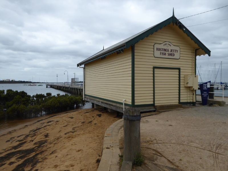 Hastings Jetty fishing shed
